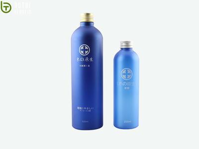 Customized 250ml 500ml round PET plastic lotion bottle with aluminium cap