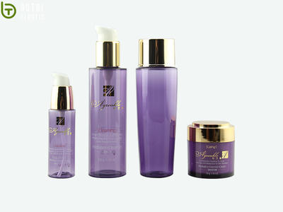 Full set PET plastic cosmetics bottle containers for personal care