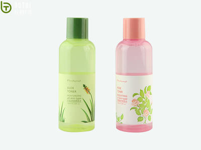 Customized 180ml PET plastic bottle with screw cap for personal care