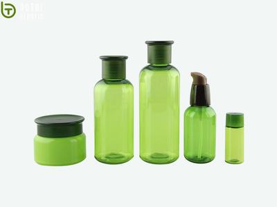 China wholesale custom design 300ml 500ml plastic empty skin care containers set