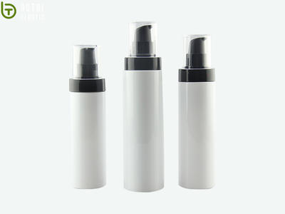 100ml 150ml 200ml Round Empty Plastic PET opaque Lotion Bottle With Lotion Pump