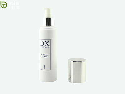 60ml 80ml Round Empty Plastic PET opaque Lotion Bottle With Lotion Pump